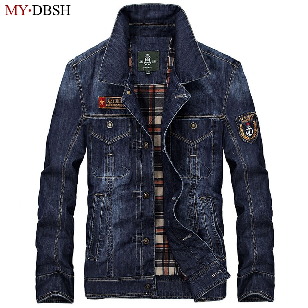Fashion 2019 New Style Men's Denim Jackets Men Military Jeans Jacket Top Quality MYDBSH Brand Male Bomber Coats Casual Jackets