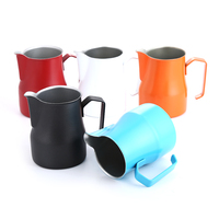 Realand 500ml Thick 18/8 Stainless Steel Italian Espresso Latte Art Milk Frothing Pitcher Steaming Jug Milk Foam Container