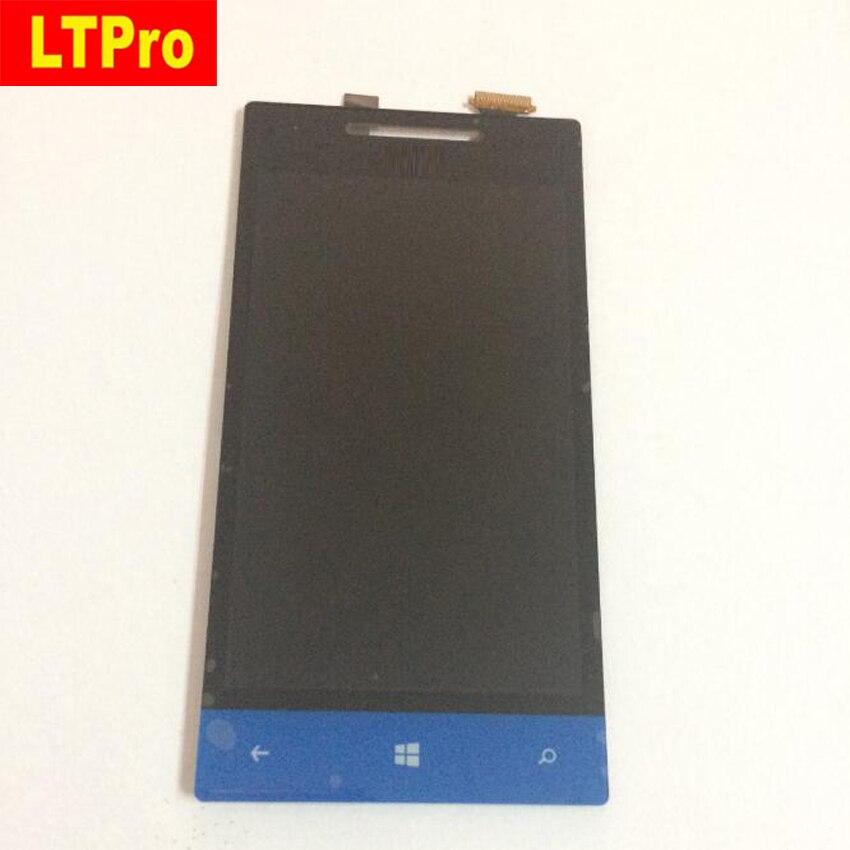 Azul Pantalla LCD Full Touch Screen Asamblea Digitalizar Para HTC Windows phone