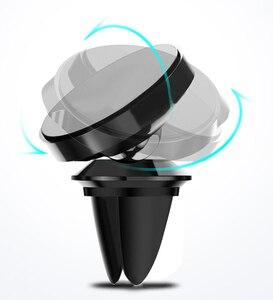 Image 2 - Magnetische Auto Handy Halter Automotive Air Vent Halterung Telefon Ständer Magnet Auto Dashboard Smartphone Unterstützung Halterung Zubehör