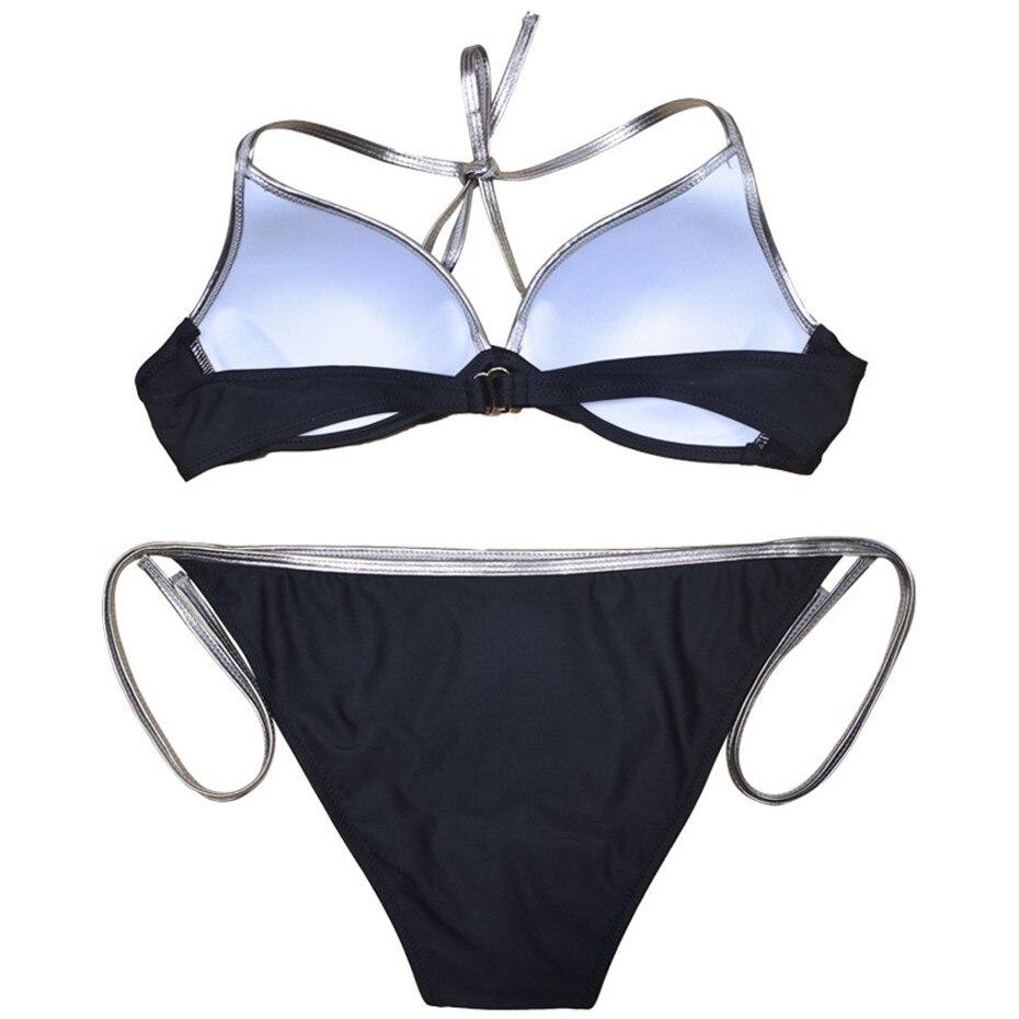 HTB1aWQkMMHqK1RjSZFPq6AwapXaR Push Up Bikini 2019 Bathing Suit Brazilian Swimsuit Sexy Bikini Solid Swimwear Girl Beachwear Women Swim Wear Female Biquini XXL