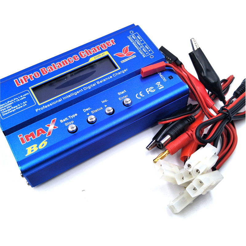 BUILD-POWER IMAX B6 RC Lipo Nimh Digital Balance Charger con Connettore Tamiya Calbe