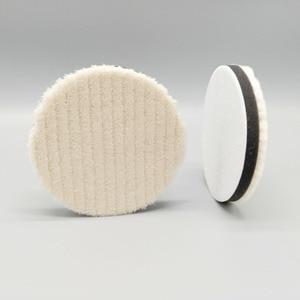 Image 4 - 4 inch Lämmer Woll Polieren Pad Für Auto Polierer Detail Spiegel Finish Polieren 100mm Polieren Disk