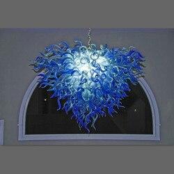 2017 nowy projekt cone kryształowe żyrandole oświetlenie żyrandol ze szkła niebieski led
