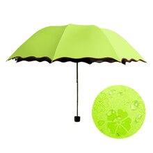 Damenschirm 2015 Neue Ankunft Prinzessin Magie Blumen Dome Sonnenschirm/Regen Taschenschirm Heißer Verkauf Farbe regenschirm