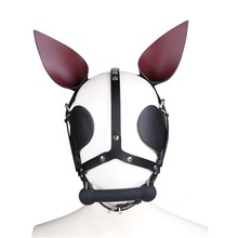 New Headgear Eye mask oral gag leather Bondage Restraint role play couple game SM Exotic Accessories Tool Slave sex toy