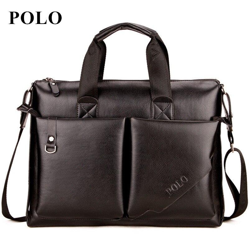 POLO 2017 Men messenger bags fashion leather bag men briefcase designer handbags high quality famous brand business men bag polo 100% 2015 men bags
