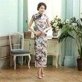 Dropshipping Chinese Lady Silk Satin Long Cheongsam Qipao Bridesmaid Evening Dress/Qipao Size S M L XL XXL  C0015