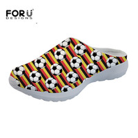 FORUDESIGNS Summer Mesh Sandals Women Cool Ball 3D Print Breathable Slip On Slippers Fashion Ladies Girls Beach Lover Water Shoe