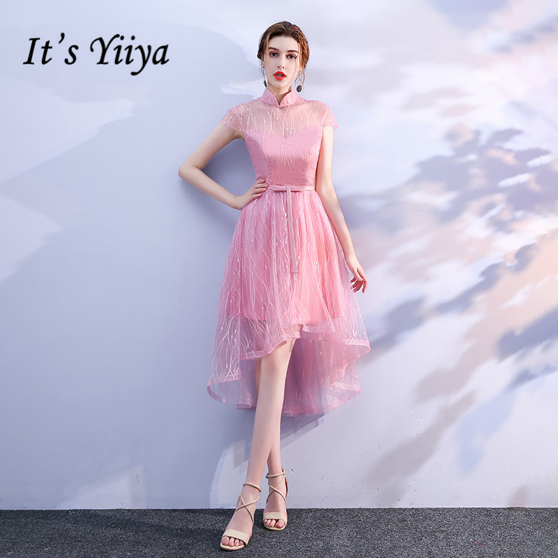 It's YiiYa 2018 Hot Sales Formal   Dress   Short Sleeve   Bridesmaids     Dresses   Luxury High Quality Lady Fashion Designer LX717
