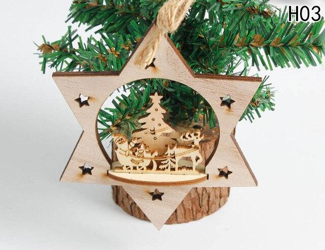 Weihnachtsdekoration Holz Herz Baum Glocke Hängen Dekor Weihnachten  Dreidimensionale Dekoration Für Haus Stereo Weihnachtsbaum Anhänger