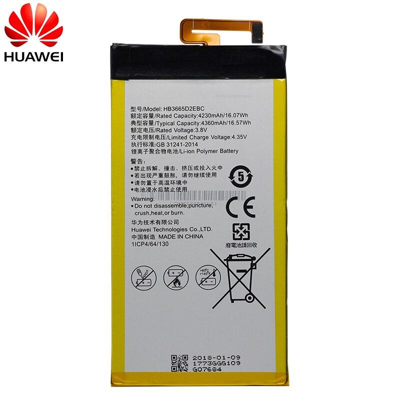 Hua Wei Original Replacement Phone Battery HB3665D2EBC For Huawei P8 Max 4G W0E13 T40 P8MAX 4230mah