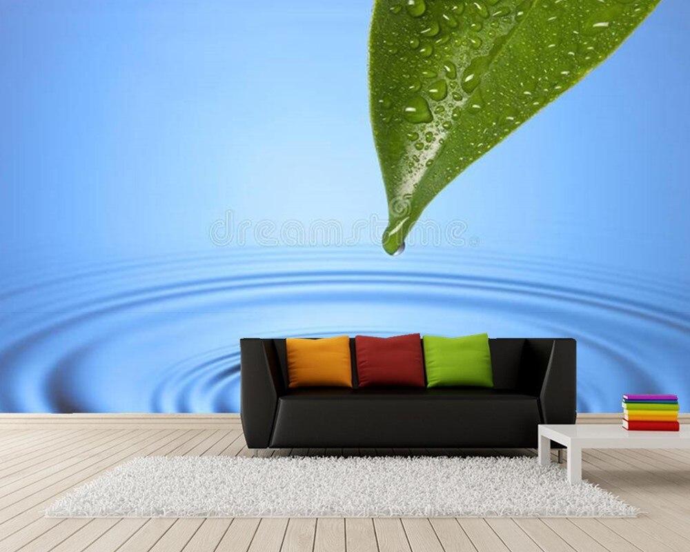 Spa goutte d'eau feuille ondulation 3d papier peint papel de parede, salon canapé TV mur chambre salle de bains restaurant café mural
