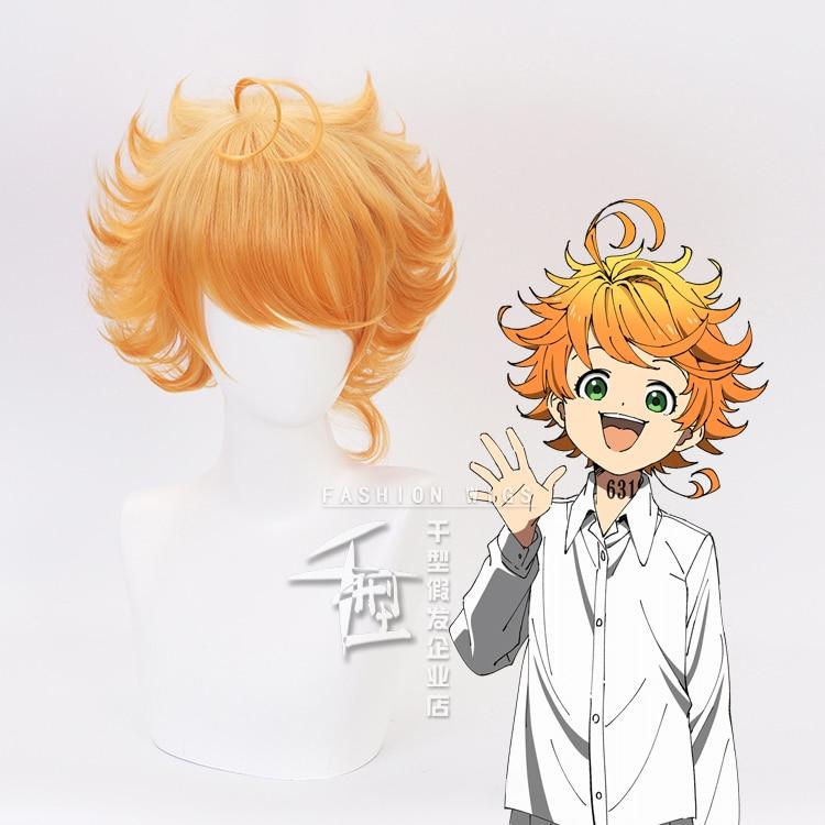 CAP The Promised Neverland Yakusoku Norman Costume Cosplay Hair Wig