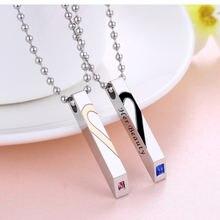 Ожерелье серебряное в форме сердца для мужчин и женщин модное