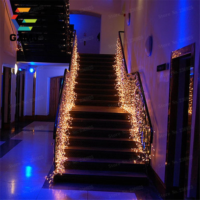 35m garland waterproof waterfall led string lights outdoor wedding window decorations holiday festival party fairy lights h 26in led string from lights