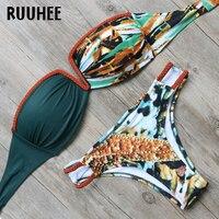 RUUHEE Bikini Swimwear Swimsuit Women Bikini Set Push Up V Neck Bathing Suit 2018 Female Beachwear
