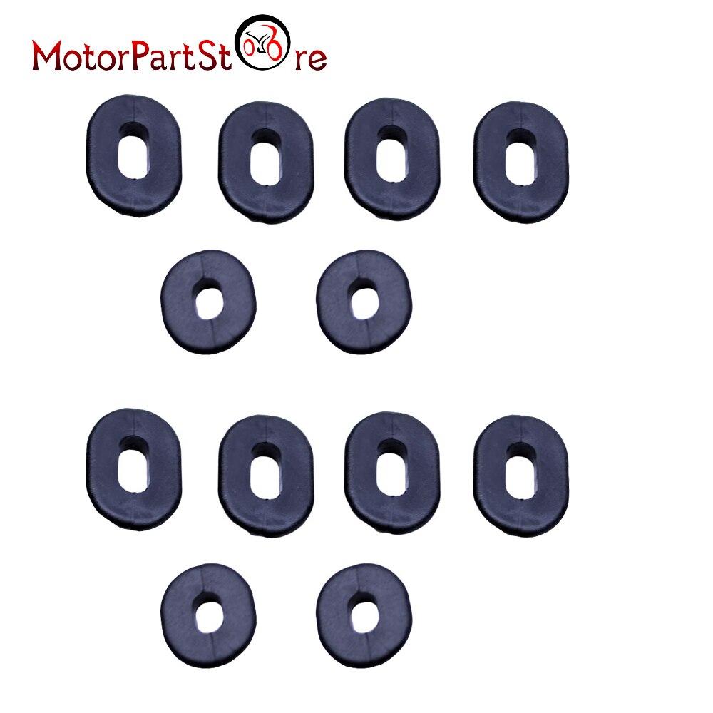 12pcs Black Rubber Side Cover Grommets Motorcycle Fairings for Honda CB100 CL XL 100 CG125 CB125S CB125T CB TL 125 CD125 cg125 125