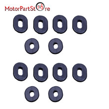 12pcs Black Rubber Side Cover Grommets Motorcycle Fairings for Honda CB100 CL XL 100 CG125 CB125S CB125T CB TL 125 CD125(China)
