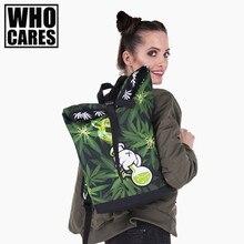 Куш Сорняк 3D печати курьер рюкзак 2017 Кто заботится Новый дорожная сумка женщины Bolsa де Viaje мужские сумки багажа холст вещевой сумки
