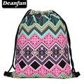 Deanfun mujeres mochilas impresión bolsa de playa mochila feminina harajuku bolso de lazo para hombre mochilas azteca rosado