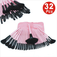 32Pcs Set Professional Makeup Brush Set Foundation Eye Face Shadows Lipsticks Powder Make Up Brushes Kit