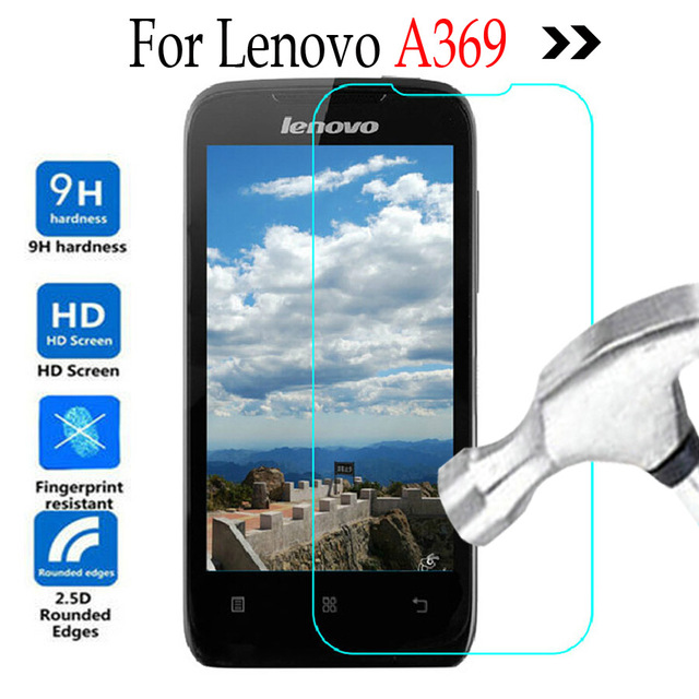 low priced 2a51e f92f0 US $1.86 |For Lenovo A369 A369i Tempered Glass Screen Protector phone  protection Cover For Lenovo A 369 369i Protective Film case -in Phone  Screen ...