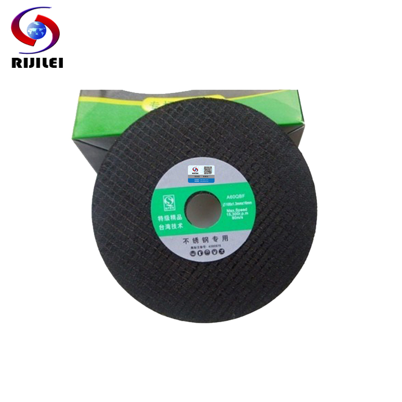 RIJILEI 25PCS / Lot Aukštos kokybės metalo pjovimo diskai 4 colių nerūdijančio plieno pjovimo disko diskas 100mm šlifavimo diskas BY004