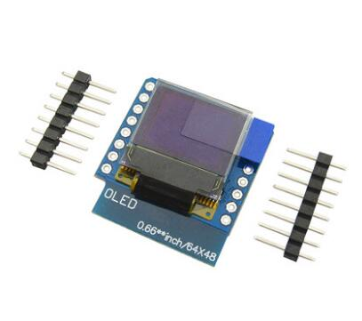 1pcs 0.66&#8243; inch 64X48 IIC <font><b>I2C</b></font> OLED <font><b>LED</b></font> LCD Dispaly Shield Compatible