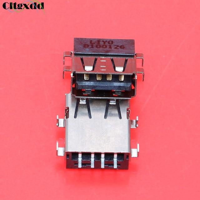 Cltgxdd connecteur de prise femelle USB 2.0 | 10 pièces pour ordinateur portable, interface USB de 571G pour carte mère Acer