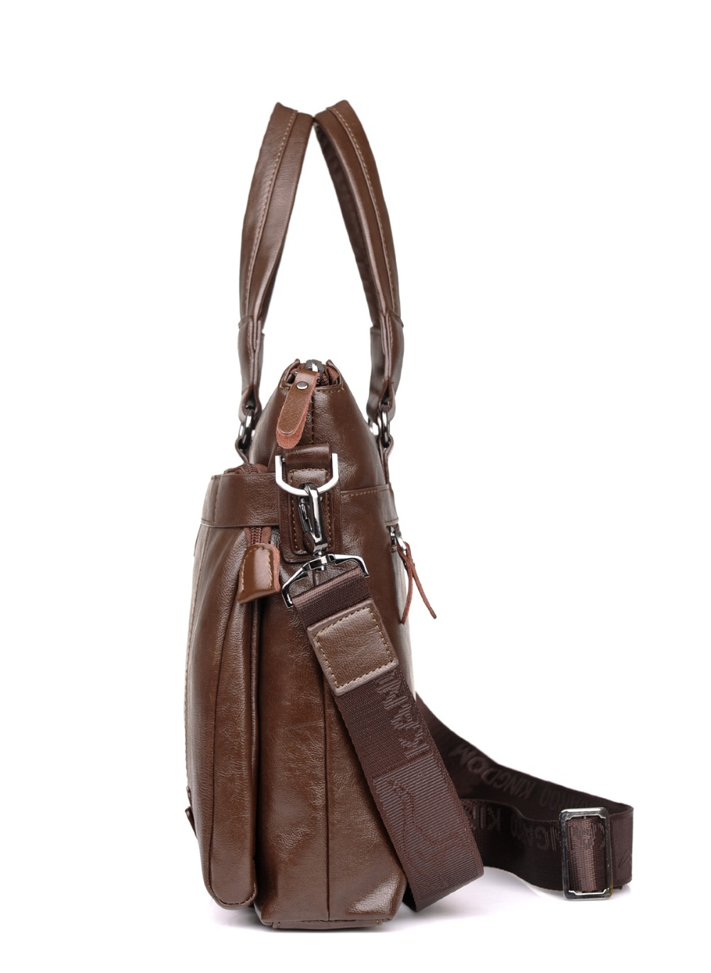ZYJ Men\`s Business Leather Shoulder Laptop Briefcase Bags Sling Travel Messenger Portfolio Bag Causal Bolsa Lawer Handbag (9)