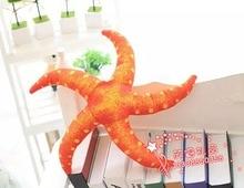 new plush starfish toy lovely simulation orange starfish doll gift about 40cm 421
