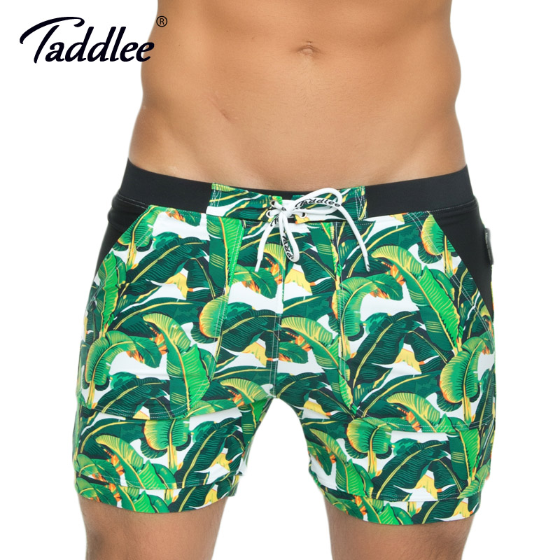 Taddlee Brand Men s Swimwear Swimsuits Swim Surfing Board Boxer Trunks Shorts Plus Size XXL Traditional