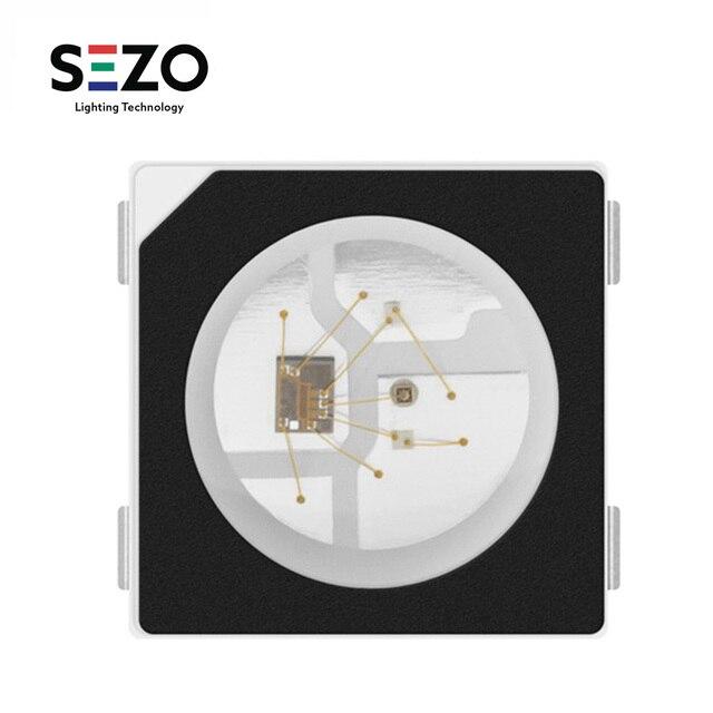 Sk6812 100 rgb pixel smd (similar com ws2812b), 10 peças 5050/3535 peças chip digital endereçável individualmente, cor completa, led, dc5v