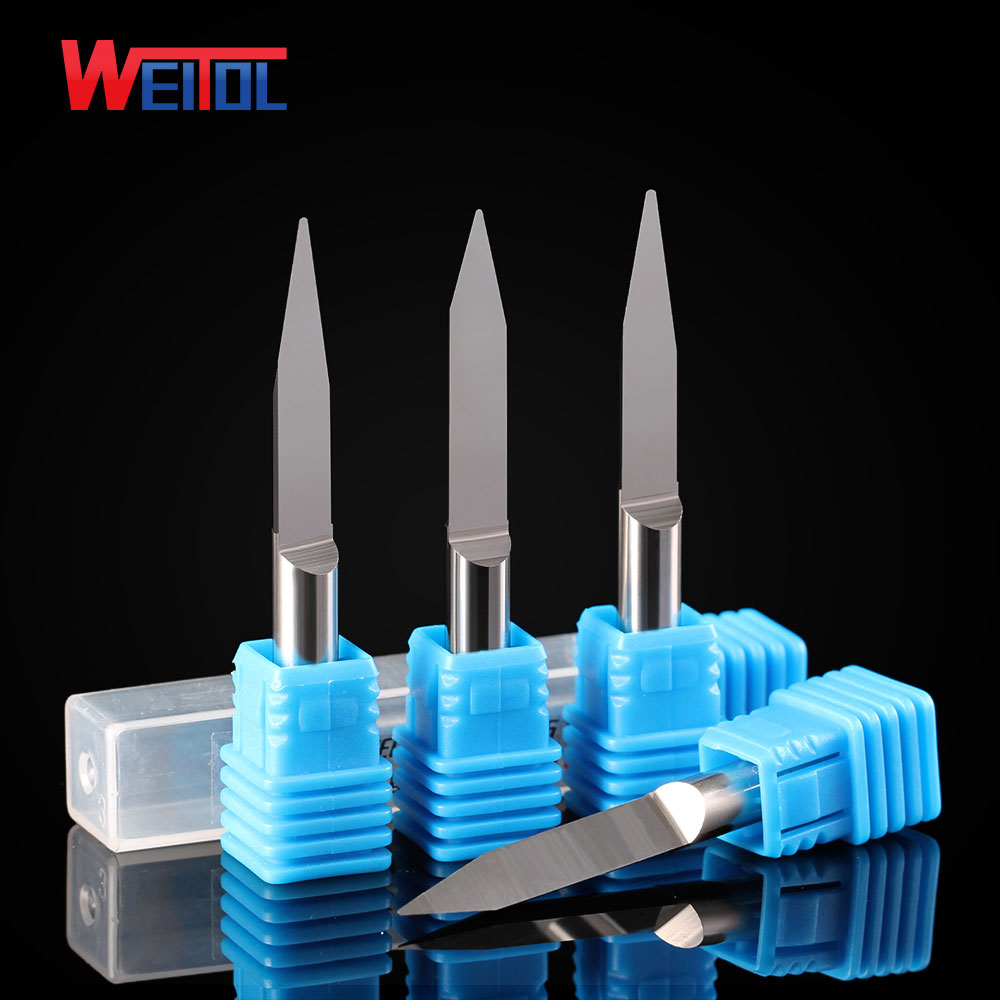 Weitol N 10 pcs/Lot  6mm V Shape round Bottom Carbide PCB Engraving Bits CNC Router Tool 10 degree 0.1mm weitol 3a  5a 1pc 6 12mm 6 28 degree 1 5