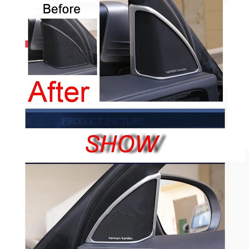 2 PCS font b Car b font New DIY ABS Matte A Pillar Tweeter Decorative Light