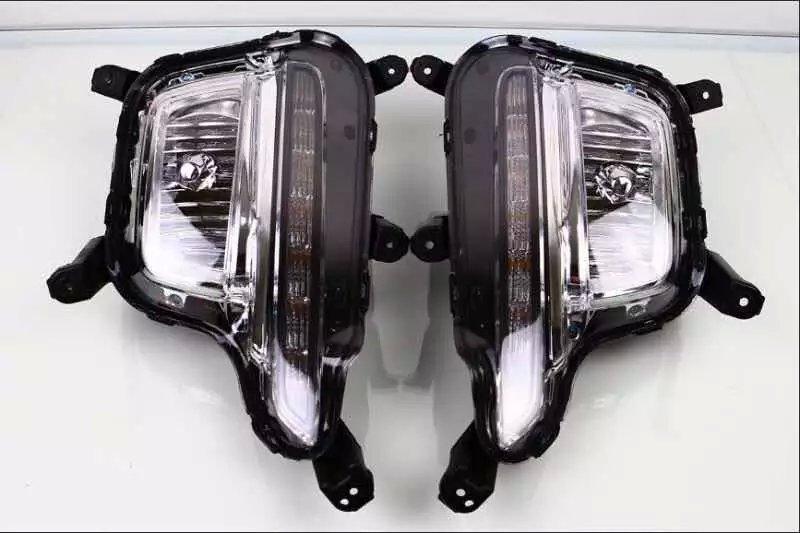 New arrival OEM LED DRL daytime running light + fog lamp for Kia K2 Rio 2014-015, top quality, 2pcs автоинструменты new design autocom cdp 2014 2 3in1 led ds150