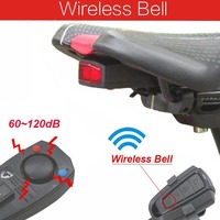 Taillight Bike Light Cycling LED Wireless Bicycle Alarm Bell Anti Theft Remote Control Bike Accessories USB