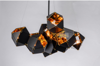 Nordic Modern Chandelier Welles Chandelier Metal Faceted Chandelier Villa Hotel Gallery Bar Chandelier 3 Head Free