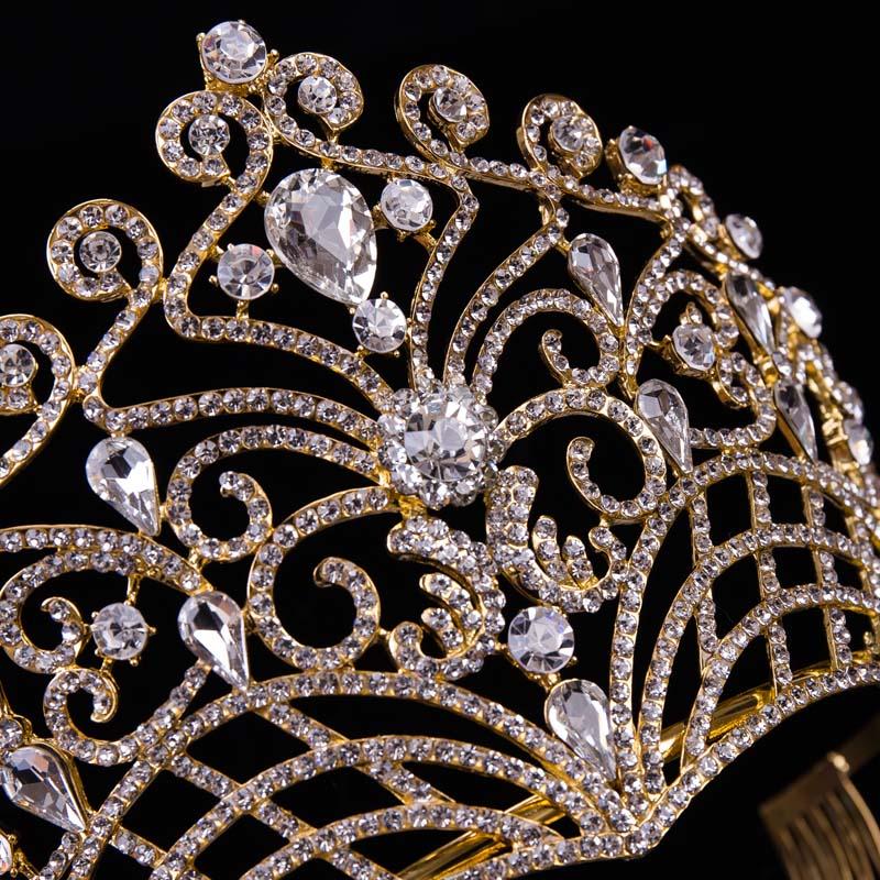 2019 nouvelle grande européenne mariée mariage diadèmes couronnes - Bijoux fantaisie - Photo 6