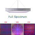 1pcs 20W 30W 45W Full Spectrum Led Grow Light 225pcs Led Grow Lamp Hydroponic Systems Best for Medicinal Plants Growth Flowering