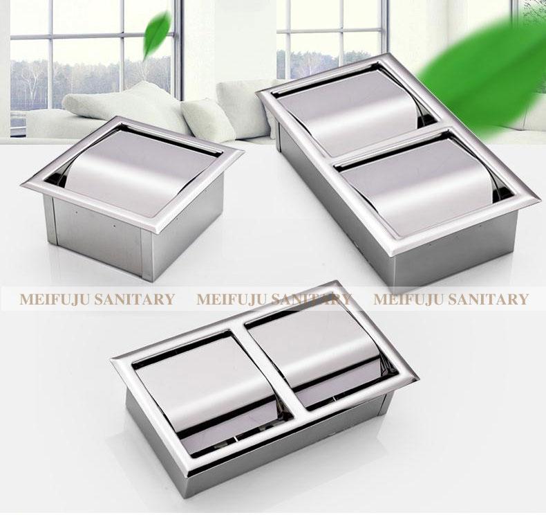 Утопленный держатель туалетной бумаги из нержавеющей стали