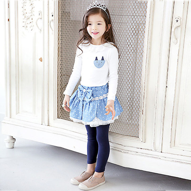 Baby Kids Pullover Long Sleeve T-shirt Girls Lace Collar Princess Blouse Tee Tops clothing