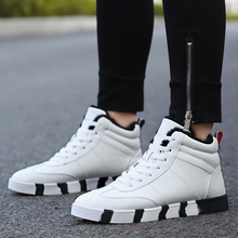 2018 New Arrival Winter Hot Casual Synthetic Shoes Man Korean Version Add Wool Joker Trend Mens Size 39-44 Red White 3