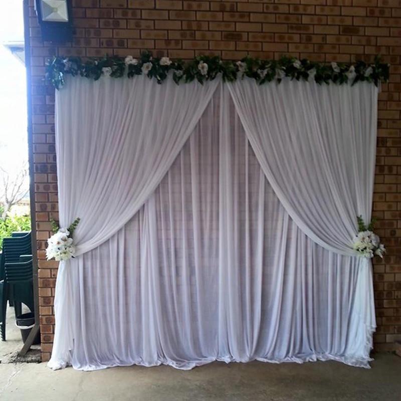 Aliexpress.com : Buy White Wedding Drapes 3*3 Meter For