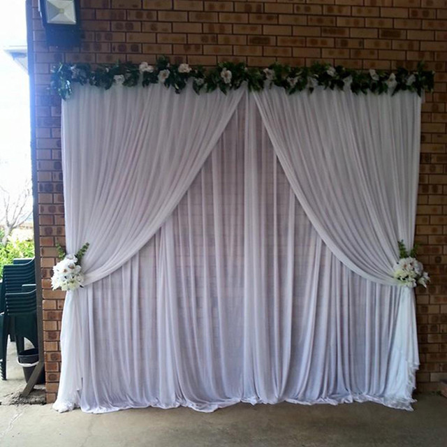 White Wedding D 3 Meter For Signature Table Decoration Backdrop Stage Background