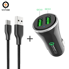 Quick Charge 3.0 Technology 36W 2-Port Mobile QC3.0 Car Charger USB TO Type-C 3A