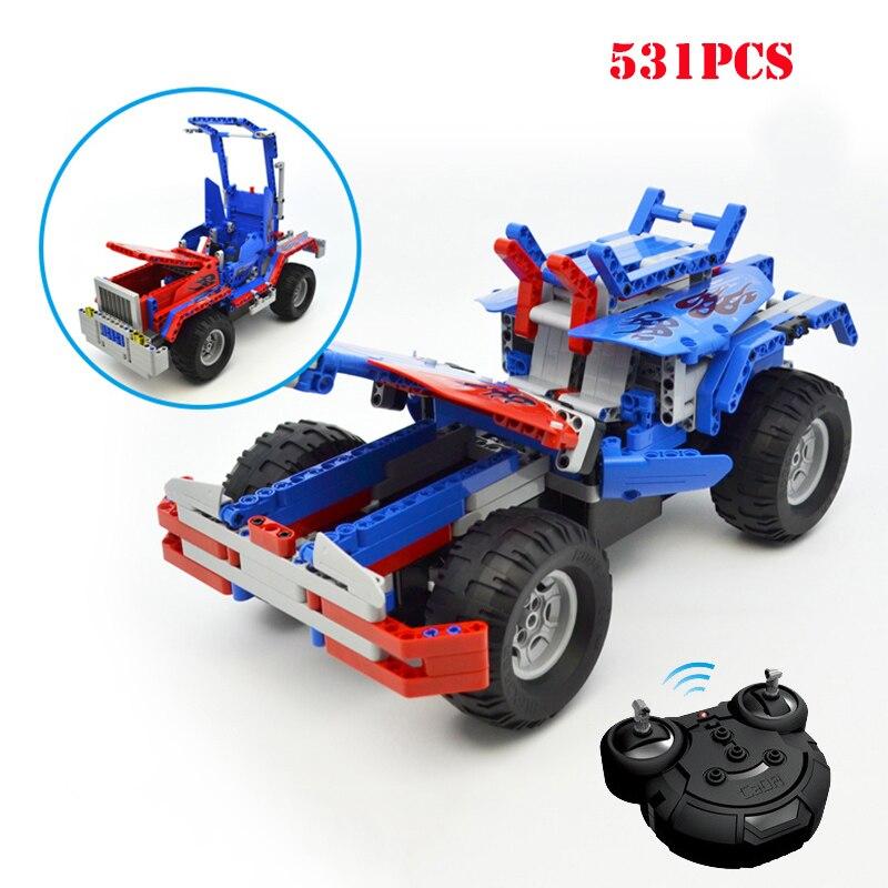 Technic 2 en 1 Transformable Optimuse Prime RC véhicule blocs de construction télécommande camion Compatible Legoed briques enfant jouets