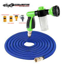 High Quality 25Ft-100Ft EU Flexible Expandable Garden Water Hose Magic Hose Plastic Hoses Pipe With Spray Gun To Flushing(China)