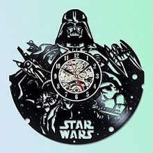 ФОТО star wars collectables vinyl record wall clock -  best gift for friend, man and boy led with 7colors